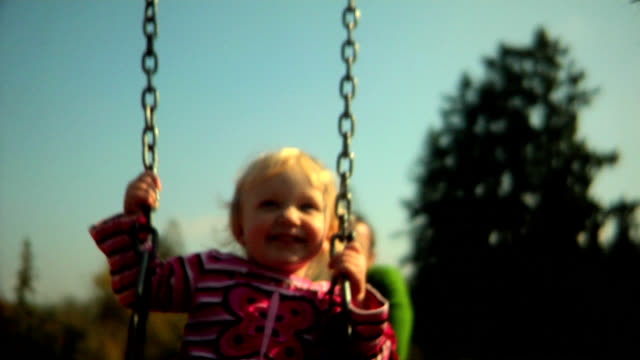 HD Girl on the Swing video