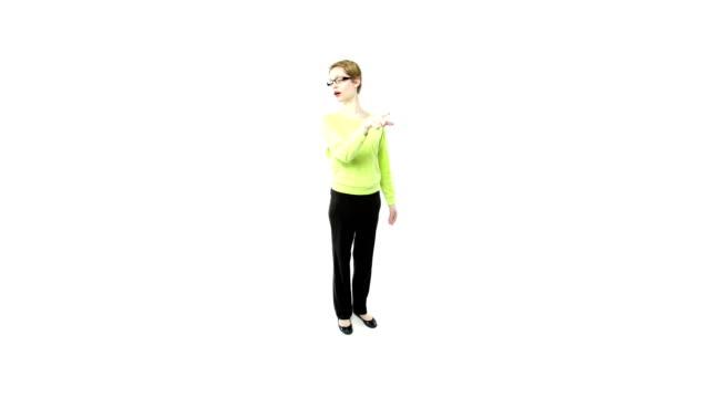 girl on white video