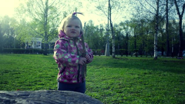 A girl playing in the park video