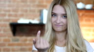 Girl Pointing to Camera Then Inviting video