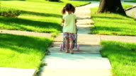 Girl pushes Doll Stoller Away video