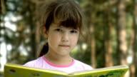 Girl reading video