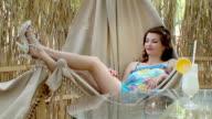 Girl resting in hammock video