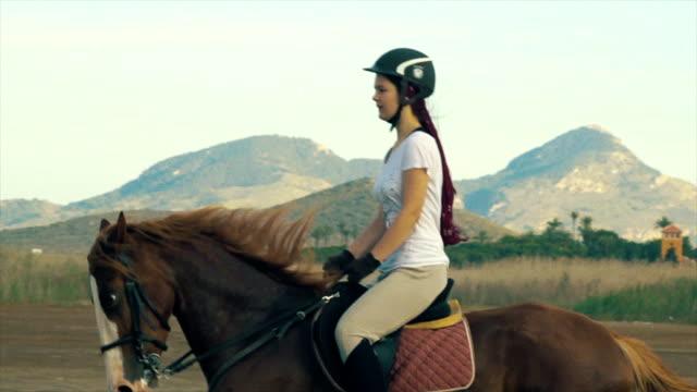 Girl riding a horse. video