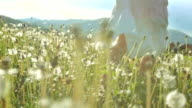 SUPER SLO-MO Girl Running In The Meadow video