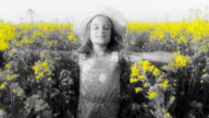 HD SLOW MOTION: Girl Running Through Field With Open Arms video