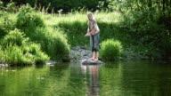 Girl skimming stones video