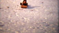 Girl Sledding With Her Family (1942 Vintage 8mm) video