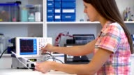Girl solder and repair electronic device video