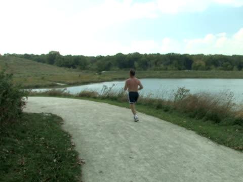 Girl Speedwalking on Trail 1 video