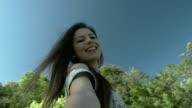 Girl spinning video