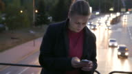 Girl texting on cell phone video