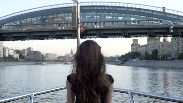 Girl Travel In Sightseeing On Boat Tour video
