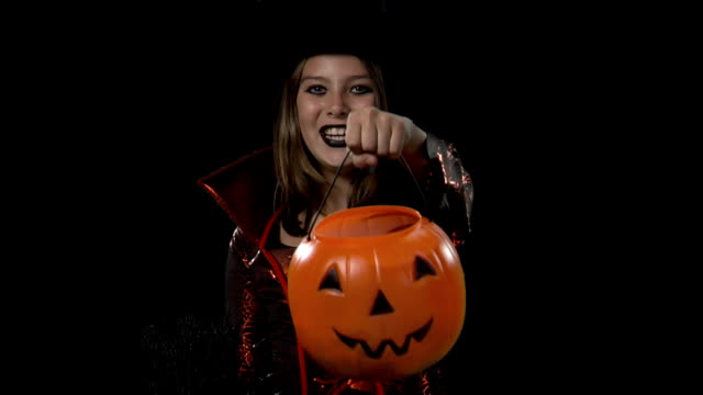HD Girl Trick-or-Treater video