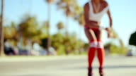 Girl Trying to Do Some Moves on Roller Skates video