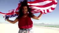 Girl with american flag video