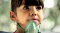 Girl with Asthma Inhaler video