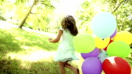 Girl with balloons video