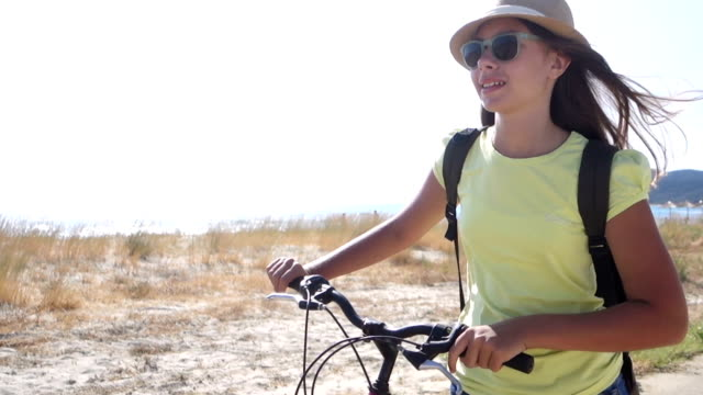 Girl with bicycle video