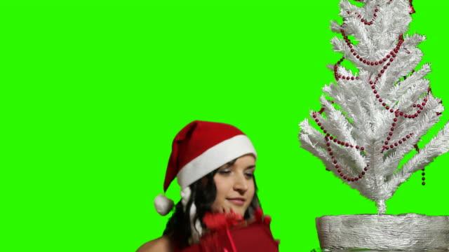 XMAS girl with christmas sack video