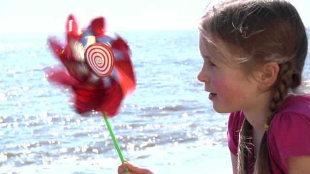 SLOMO: Girl with pinwheel video