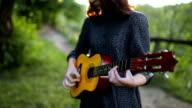 Girl with ukulele video