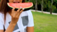 Girl with watermelon video