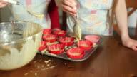 Girls baking video