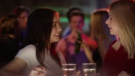 Girls chat at the bar video