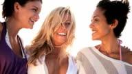 Girls fun on the beach video
