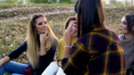 Girls have fun with make up video