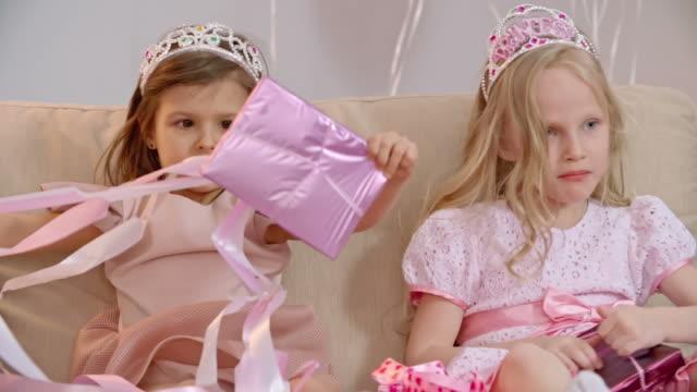 Girls Opening Birthday Presents video