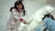 Girls Pillow Fight video