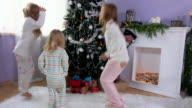 Girls run for gifts on Christmas morning video