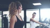 Girls running on treadmill video