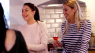 Girls Socialising in the Kitchen video