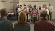 HD: Giving Applause To A senior's Choir video
