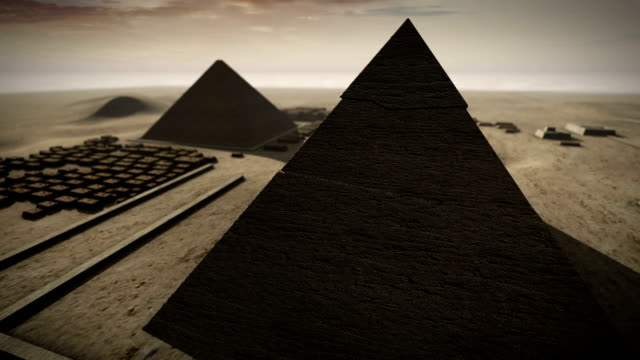 Giza platform Egypt animation in 3D video