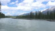 Glacial river flow in Kootenay National Park video