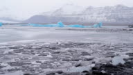 Glacier lake with iceberg. Full HD Video video