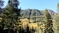 Glacier National Park Fall Colors Mountain Scenic video