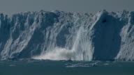 glacier wall calving video