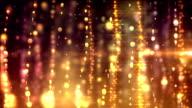 Glamorous golden curtains loop video