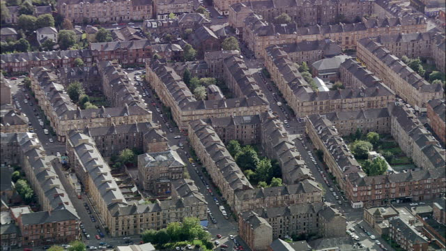 Glasgow  - Aerial View - Scotland, Glasgow City, United Kingdom video