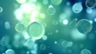 Glass Balls Light Reflection Background Loop - Aqua (HD) video