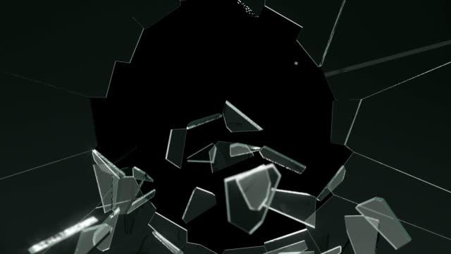 Glass breaking + alpha channel video