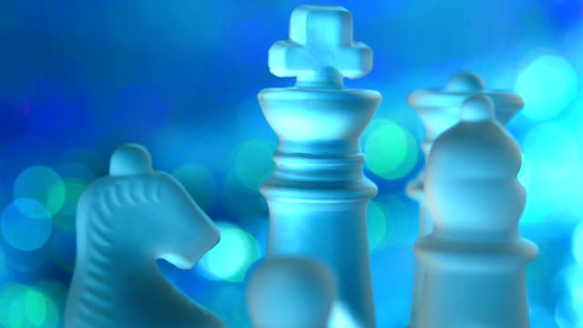 SERIES: Glass chess pieces video