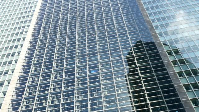 LA Glass elevators in modern skyscraper video