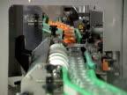 Glass jar on conveyor line video