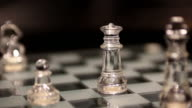 glass king and queen chess on the chessboard video